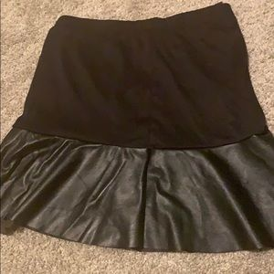 Black skirt with leather bottom